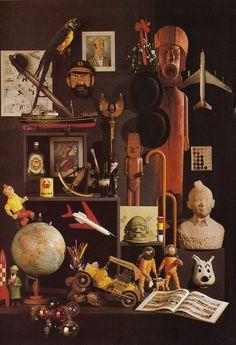 an array of Tintin collectables • Herge, Tintin et moi