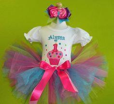 #MC Purple Sprinkles Birthday Girl Cupcake Tutu Outfit by PoshBabyStore.com