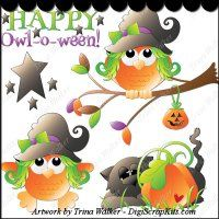 Happy Owl-o-ween 1 Clip Art