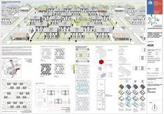 Galería de Mención Honrosa en Concurso de diseño de vivienda social sustentable en la Patagonia / Aysén, Chile - 12 Hotel Architecture, Architecture Drawings, Architecture Details, Patagonia, Hotel Floor Plan, Elevation Plan, Social Housing, Ground Floor Plan, Cad Drawing