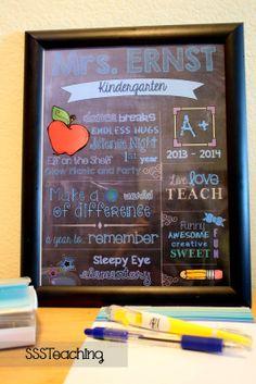 Customized Chalkboard Teacher Appreciation Gift