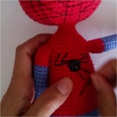 Amigurumi spiderman free crochet pattern is waiting for you in this article with all the details. You can find everything about Amigurumi on our website. Crochet Doll Pattern, Crochet Art, Crochet Dolls, Free Crochet, Crochet Patterns, Red Rope, Magic Circle, Stitch Markers, Slip Stitch