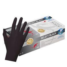 100 Latex Einweghandschuhe puderfrei schwarz Gr. M-HY138