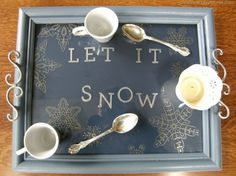 Present your favorite teas and drinks on this tray that's made with an old frame, spray paint, and stencils. Add cabinet handles to make it easier to carry—and to up the elegance factor. Get the tutorial at Christina's Adventures.