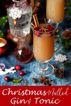 This apple-based Mulled Gin & Tonic is easy to pull together and makes a wonderful Christmassy hot drink to serve to a crowd.Non-drinkers can enjoy the mulled apple juice just as it is. Gin Recipes, Drinks Alcohol Recipes, Yummy Drinks, Cocktail Recipes, Alcoholic Drinks, Christmas Cocktails, Fun Cocktails, Christmas Desserts, Classic Cocktails