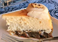 Carrot cake cheesecake, a cake with 1 layer carrot cake and 1 layer cheesecake, is topped with almond frosting for a festive and decadent dessert. Layer Cheesecake, Carrot Cake Cheesecake, Cake Recipes, Dessert Recipes, Desserts, Almond Frosting, Banana Cream, Cake Flavors, Postres