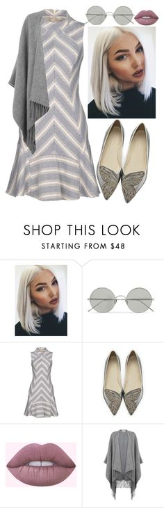 """""""-50 Shades Of Grey-"""" by kimmybear-321 ❤ liked on Polyvore featuring Sunday Somewhere, Karen Millen, Sophia Webster, Warehouse, love, peace, cupcakes, pleaselikeit and somethingdifferent"""