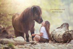 It's just so cute Horse and girl