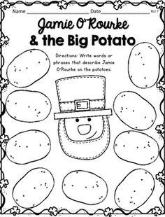 Jamie O'Rourke and the Big Potato Comprehension Activities