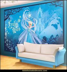 Frozen Theme Elsa Bedroom   Elsa Theme Bedroom Ideas   Princess Disney  Frozen   Winter Theme Decorations   Frozen Room Decorating Ideas   Disney  Frozen ...