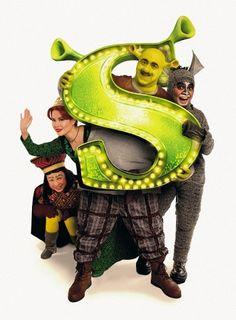 Shrek and the gang at Shrek The Musical