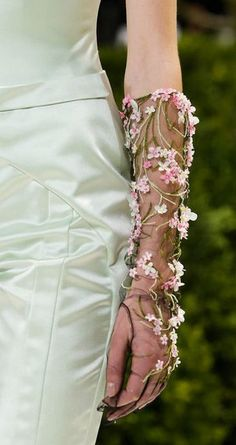 Her favorite gloves that she saved from last year -- Christian Dior - Haute Couture S/S 2013