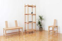 Nomadic Shelves étagères à assembler par Jorge Penadés