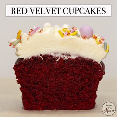 These maroon-colored red velvet cupcakes are moist and fluffy with a subtle chocolate flavor paired with rich and tangy cream cheese frosting. They are also super easy to make! Moist Cupcake Recipes, Moist Cupcakes, Fun Baking Recipes, Frosting Recipes, Vanilla Cupcakes, Gourmet Cupcakes, Strawberry Cupcakes, Banana Cupcakes, Red Velvet Cake Frosting