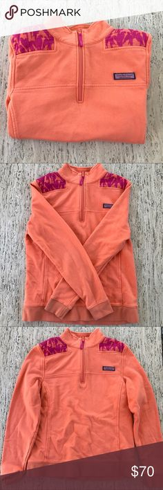 Vineyard Vines shep shirt! coral shep shirt with pink birds on the shoulders. never worn!!! super cute just not my style anymore. size small Vineyard Vines Other
