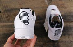 Nike Air Force 1 07 SE LX 'Broken Hearted' Valentine's Day 2018 AJ0867-100 Custom Sneakers, Custom Shoes, Malaga, White Air Force 1, Custom Air Force 1, Converse, Aesthetic Shoes, Valentine's Day Outfit, Nike Fashion