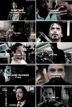 Tony Stark is not okay. Although he hides it well.