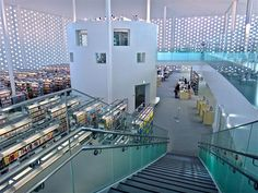 Kanazawa Umimirai Library, Japan. by Coelacanth K&H Architects. love the structure within a structure