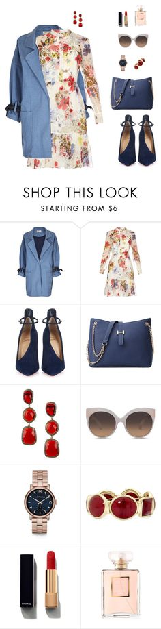 """""""Laurel."""" by srtagraham ❤ liked on Polyvore featuring Limited Edition, Erdem, Christian Louboutin, Vanhi, Linda Farrow, Marc by Marc Jacobs, Monet and Chanel"""