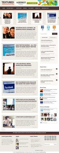 Premium blog style WordPress theme from My Theme Shop