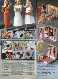1979 Sears Wishbook pg 526 - Doll Fashions and Case (including Bedroom) - Barbie Clone Christmas Catalogs, Christmas Books, Childhood Toys, Childhood Memories, Barbie Family, Barbie And Ken, Barbie Barbie, Barbie Stuff, Retro Toys
