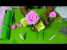 Curso de flores em EVA: Botão de rosa.