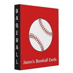 Baseball Scrapbook Binder