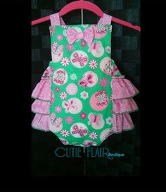 Baby Girl Romper  Valentines Outfit  Baby Retro by cutieflair