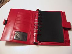 Franklin Covey Red Organizer Agenda Planner Italian Calfskin Leather 5x8 Pages #FranklinCovey