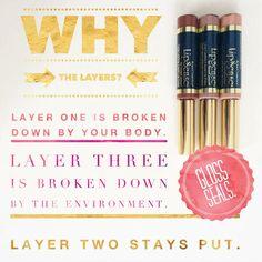 Science of lipsense layers, why 3 layers???  Distributor #217025 FB & IG: 702kissesbyJ  missjessenia@yahoo.com