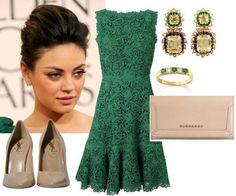 Аксессуары под зеленое платье