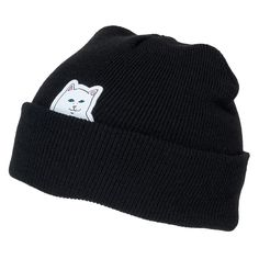 Rip N Dip Lord Nermal Cuff Beanie Black Available at Skate Pharm d977d76f2c49