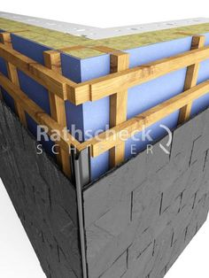 Rathscheck slate details – Slate facade execution outside corner slate on … - Build Container Home Cladding Design, House Cladding, Hotel Design Architecture, Architecture Details, New Build Developments, Exterior Wall Panels, Steel Frame Construction, Outside Room, Roof Trusses
