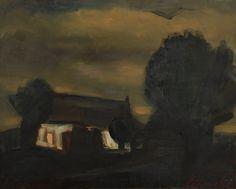 Constant Permeke (Belgian, 1886-1952), La fermette [The farmhouse]. Oil on canvas, 59.5 x 75 cm.