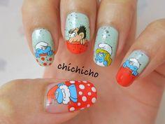Smurfs Nails | chichicho~ nail art addicts