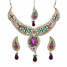 Aaishwarya Designer Necklace Maangtika Set #designernecklace #designernecklaceset #necklaceset #fashionjewelry #bridalnecklace #ethnicnecklace #necklaceandmaangtikaset