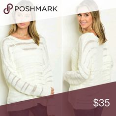Gorgeous Ivory/Cream Sweater NWT NWT- Sized S/M and M/L. comfy and soft material. Great with a pair of jeans! Boutique Sweaters Crew & Scoop Necks