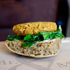 Hearty satisfying gluten-free tempeh burgers to ring in grilling season! Tempeh Burger, Salmon Burgers, Gluten Free Recipes, Vegetarian Recipes, Vegan Meals, Wrap Recipes, Bon Appetit, Grilling, Sandwiches