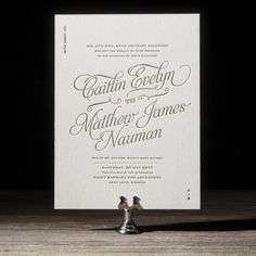 Serendipity letterpress wedding invitation by Beth Barr for Bella Figura. Customize yours with Paper Passionista