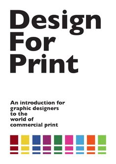 Design For Print  Finished book that has been sent to print