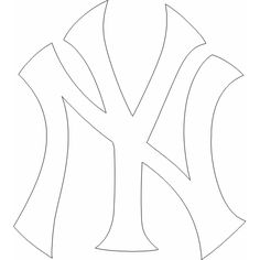 Pin by muse printables on printable patterns at for Ny yankees coloring pages