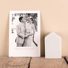 une carte de remerciement de mariage pure une photo souvenir de votre union et quelques - Carte De Remerciement Mariage