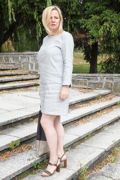 50,40,30 takie tam...: ZARA-prosta siwa sukienka...