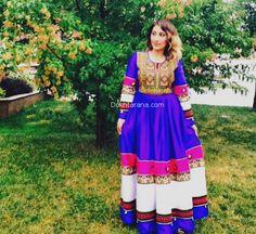 #afghan #national #dress #blue #afghani #style #girl