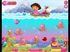 Dora The Explorer - Dora Fishing Adventure - Dora Games