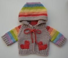 Great little hooded sweater by Tomboy Knits.