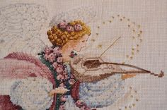 Angel of spring counted cross stitch by EmporiumHouse on Etsy, $130.00