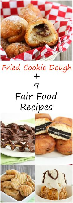 Fried Cookie Dough and 9 Homemade Fair Food Recipes Read Recipe by kirbiecravings Just Desserts, Dessert Recipes, Food Truck Desserts, Dessert Ideas, Concession Food, State Fair Food, Good Food, Yummy Food, Tasty