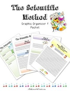 Teach your students how to use the Scientific Method! Here is a Scientific Method product which includes a Graphic Organizer and Packet so students have space to write out information for each of the steps of the Scientific Method. Great to use for any science experiment!