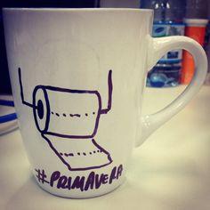 """Café para começar bem a #primavera """"...mais macio, suave pra xuxu, é mais absorvente e cuida bem do..."""" #cafe #flores #papel www.diariodebordo.net.br"""